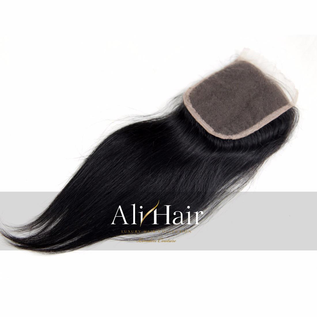 AliHair Brazilian 4x4 Straight Closure Human Gold Virgin Hair