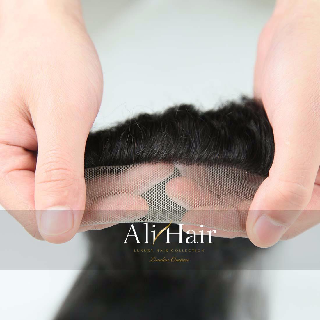 AliHair Brazilian 4x4 Kinky Straight Closure Human Gold Virgin Hair
