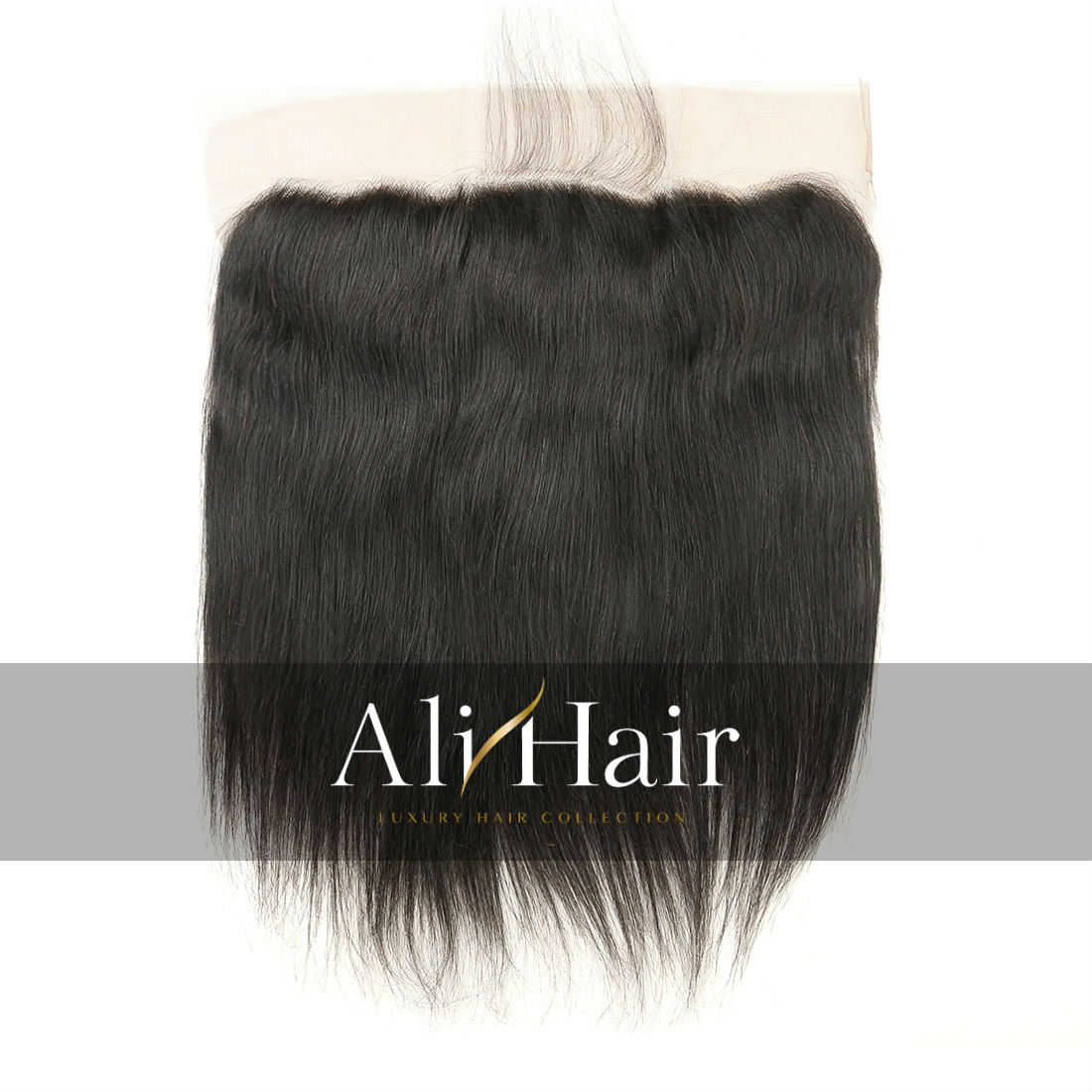 Alihair Straight Virgin Human Hair Lace Frontal 13″x4″ Natural Color 10A