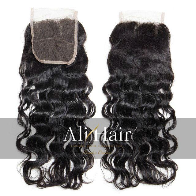 AliHair Brazilian 4x4 Water Wave Closure Human Gold Virgin Hair
