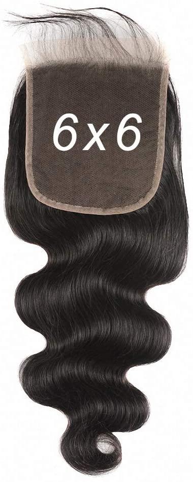 AliHair Brazilian 6x6 Body Wave Closure Human Gold Virgin Hair