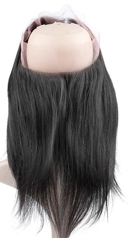 Alihair Straight Virgin Human Hair Lace Frontal 360 Natural Color 10A
