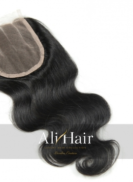 AliHair Brazilian 4x4 Body Wave  Closure Human Gold Virgin Hair