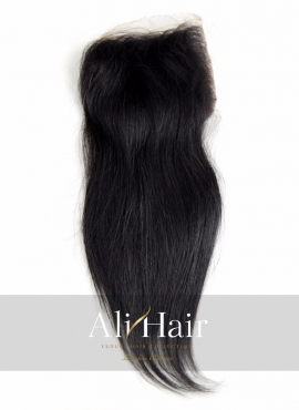 AliHair Brazilian 4x4 Straight Closure Human Gold Virgin Hair
