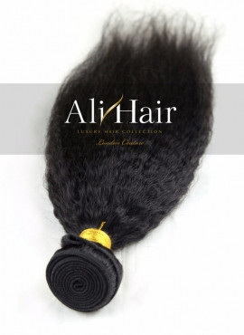 AliHair Brazilian Kinky Straight Bundle Gold Virgin Hair