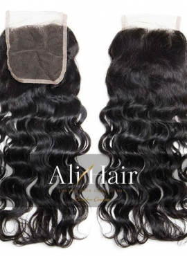 AliHair Brazilian 4x4 Water Wave Closure Human Gold Virgin Hair