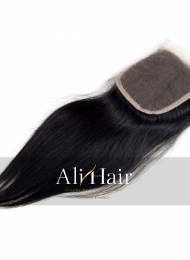 AliHair Brazilian 5x5 Straight Closure Human Gold Virgin Hair